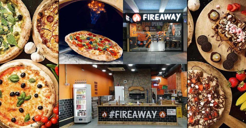 Fireaway Halal Italian Pizzas Restaurant Crawley West Sussex