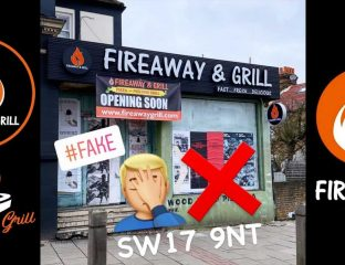 Fireaway & Grill Pizza Tooting London Copy Fake