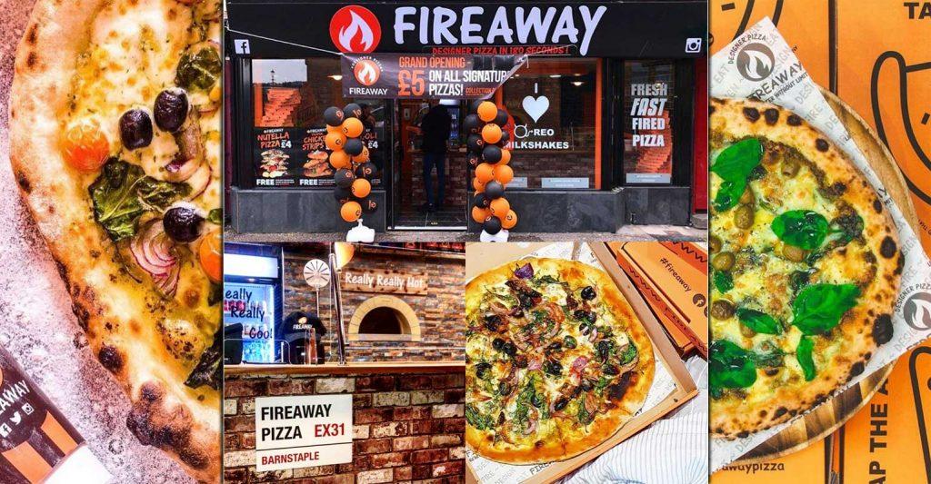 Fireaway Pizza Barnstable Devon Halal Restaurant
