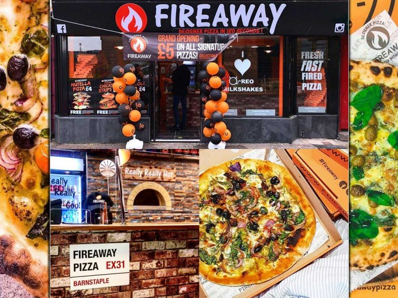 Fireaway Pizza Barnstable Devon Halal Restaurant