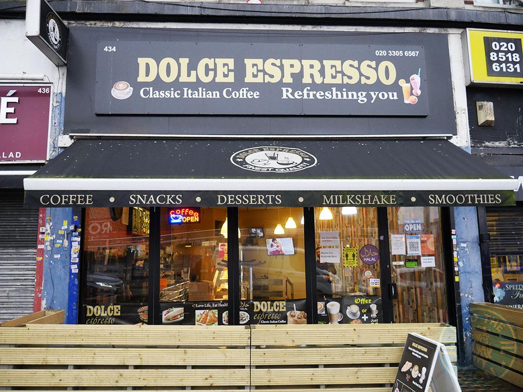 Dolce Espresso Gants Hill, Ilford Halal restaurant