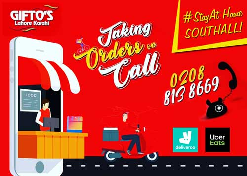 Gifto's Lahori Karahi Southall London Delivery Takeaway