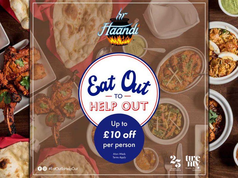Eat Out To Help Out Haandi Indian Knightsbridge London