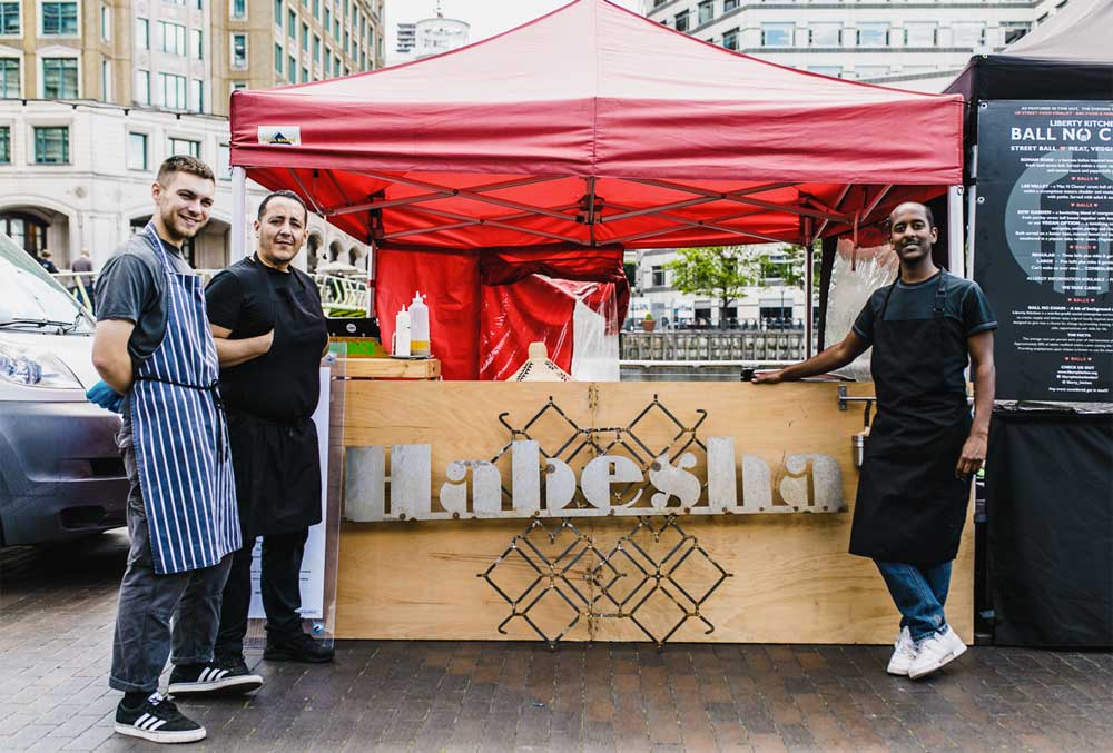 Habesha Kitchen Kerb West India Quay Street Food London