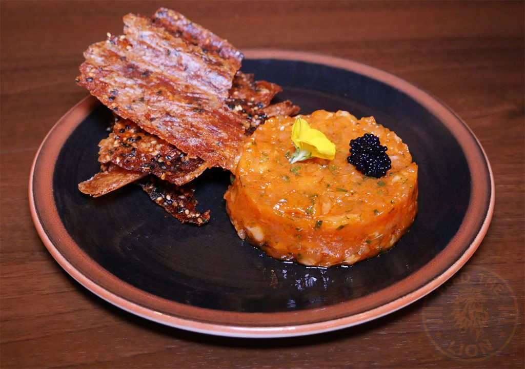 Salmon Tartare Isshoni issho-ni Bethnal Green Halal London Japanese
