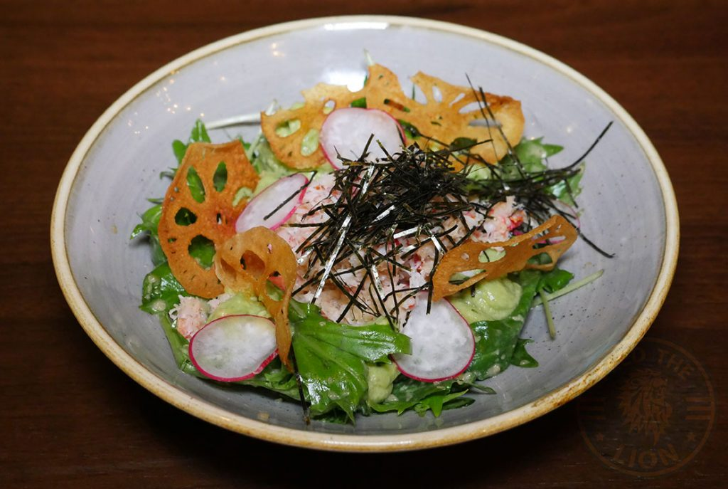 Crab Salad Isshoni issho-ni Bethnal Green Halal London Japanese