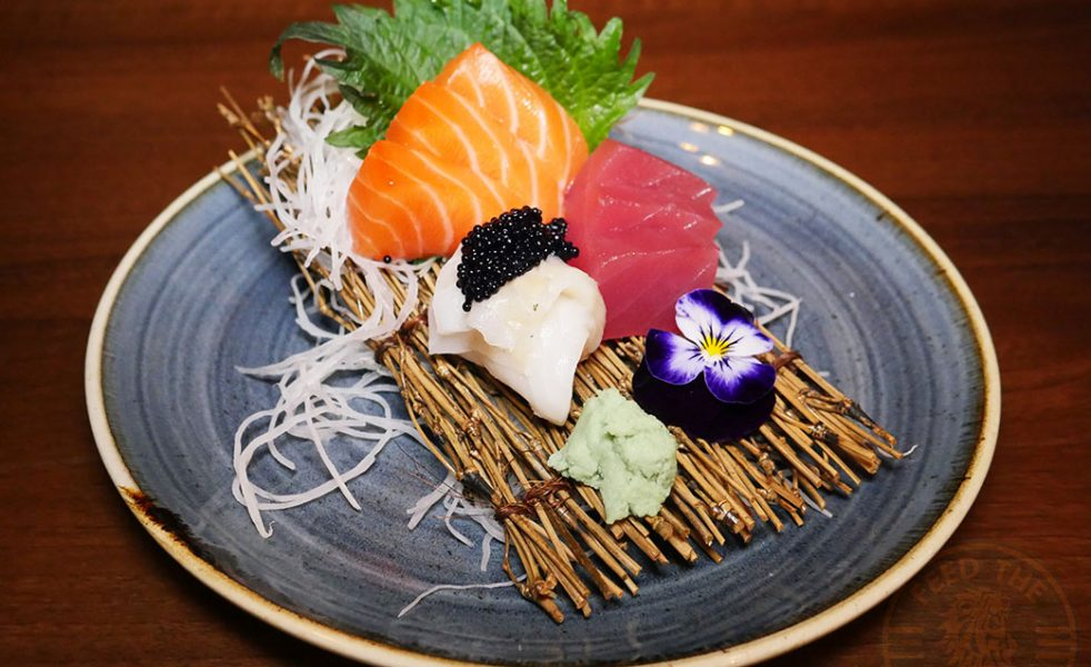 3 Kinds Sashimi (9 slices), £14.40