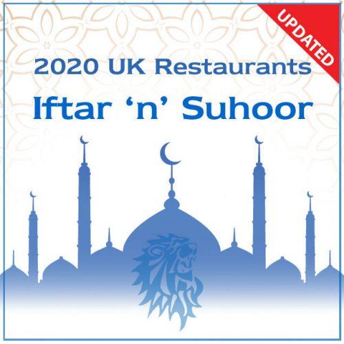 iftar n suhoor 2020 Feed the Lion Halal restaurant Ramadan guide