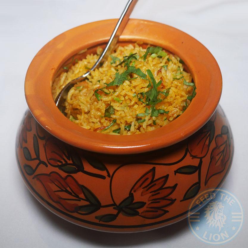 Rice Biryani Kuti's Brasserie Indian Southampton Halal