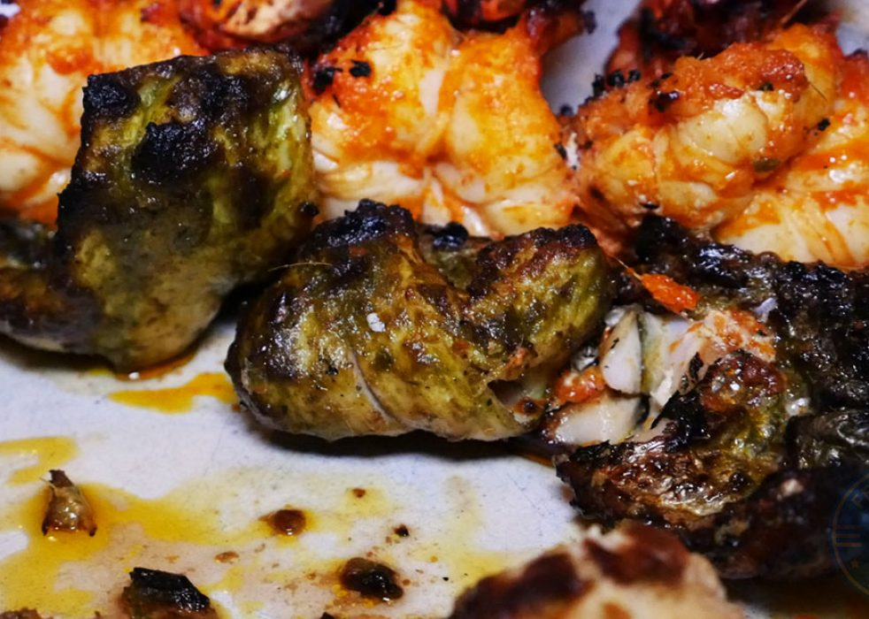 Masala Mixed Grill (veggie version available upon request) – selection of lamb chops, prawn, fish, chicken tikka, £22.00