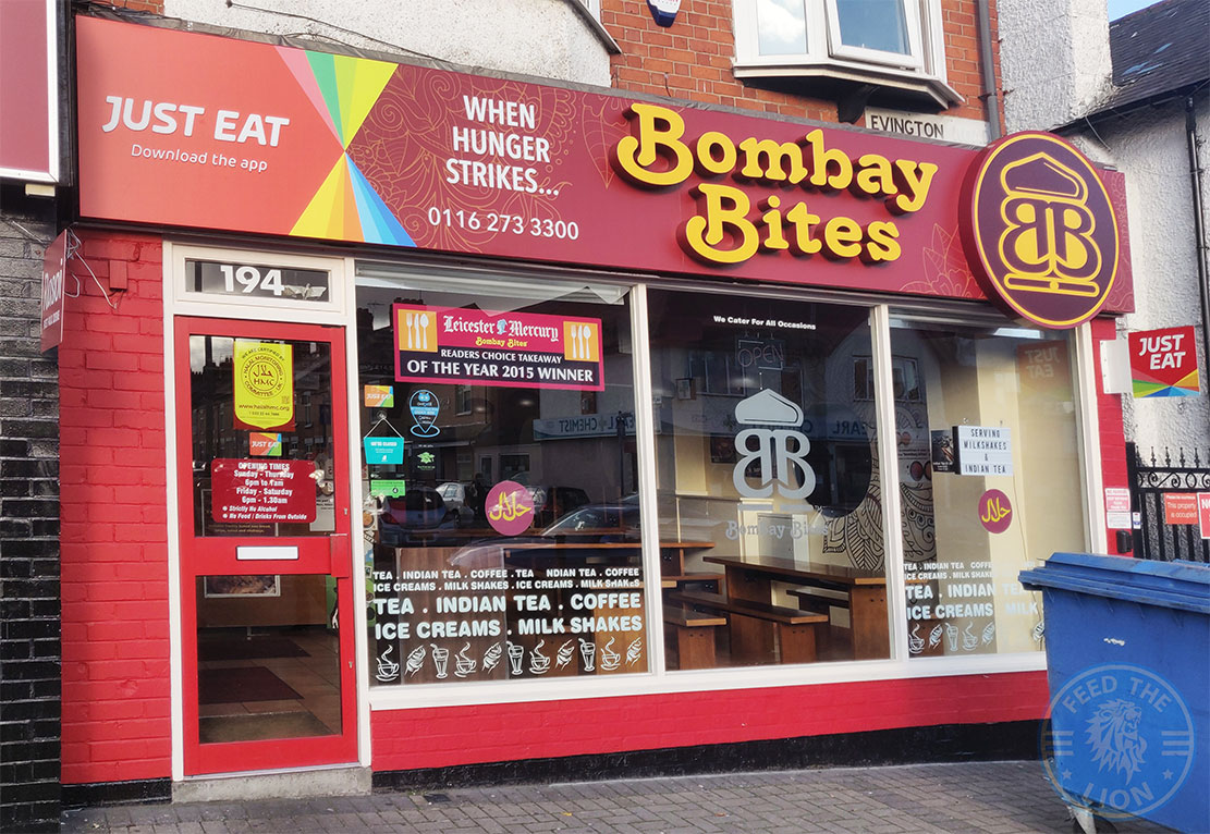 Bombay Bites Halal Food Restaurant Evington Road Leicester Le2 1hl Feed The Lion