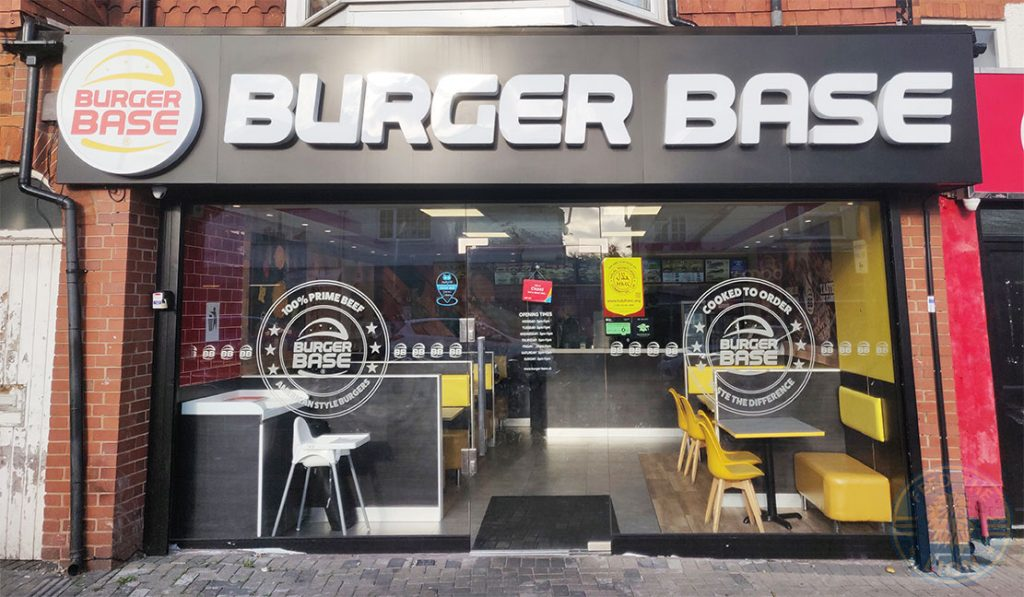 Burger Base Halal food restaurant Evington Road Leicester LE2 1HL