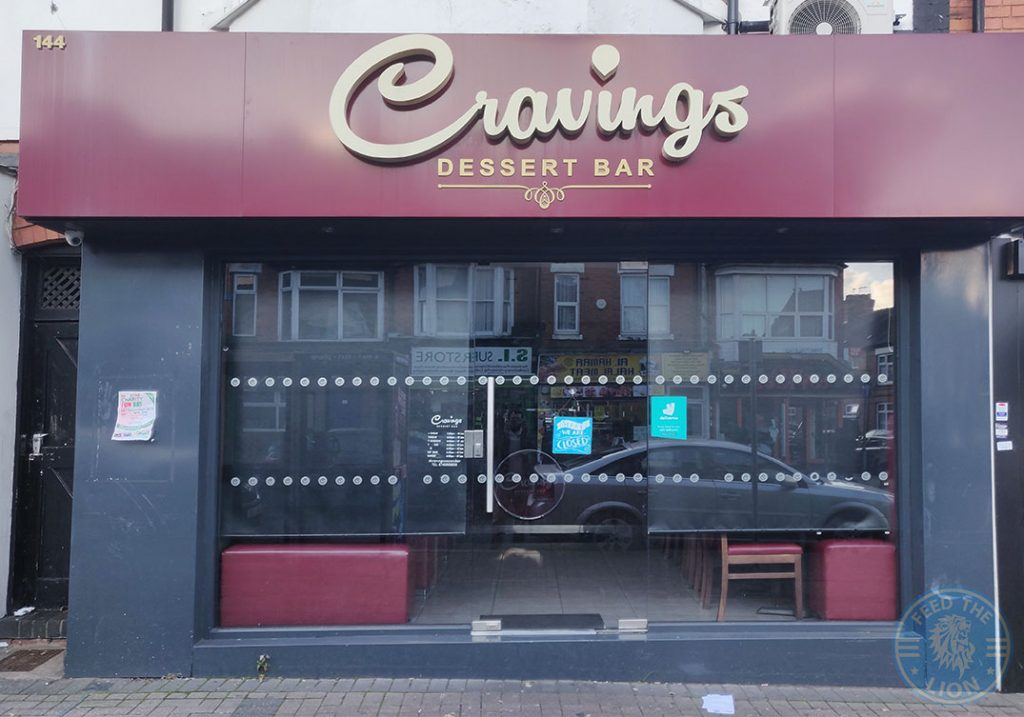Cravings Dessert Bar Halal food restaurant Evington Road Leicester LE2 1HL