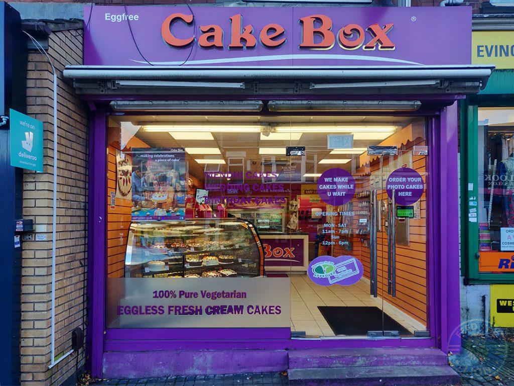 Cake Box dessert Halal food restaurant Evington Road Leicester LE2 1HL