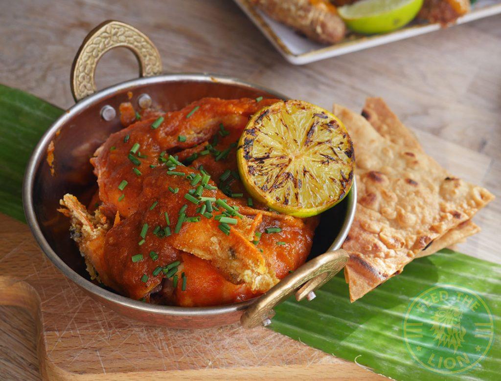 Creole Prawns Lakaz Maman Mauritian Street Food Southampton Halal restaurant Shalina Masterchef