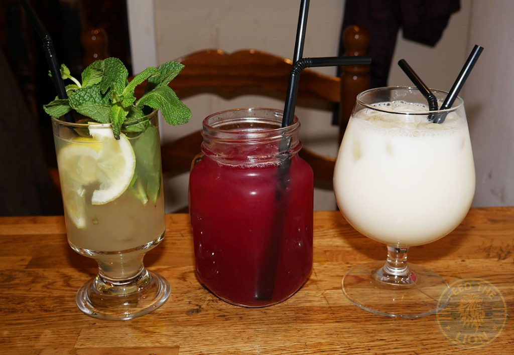 Beverages Drink Mocktails Pina Colada Mojito Daiquiri Leila Moroccan and Lebanese Restaurant Halal Ealing Common