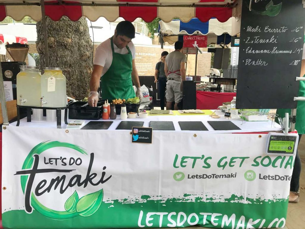 Let's Do Temaki Halal Street Food Market London