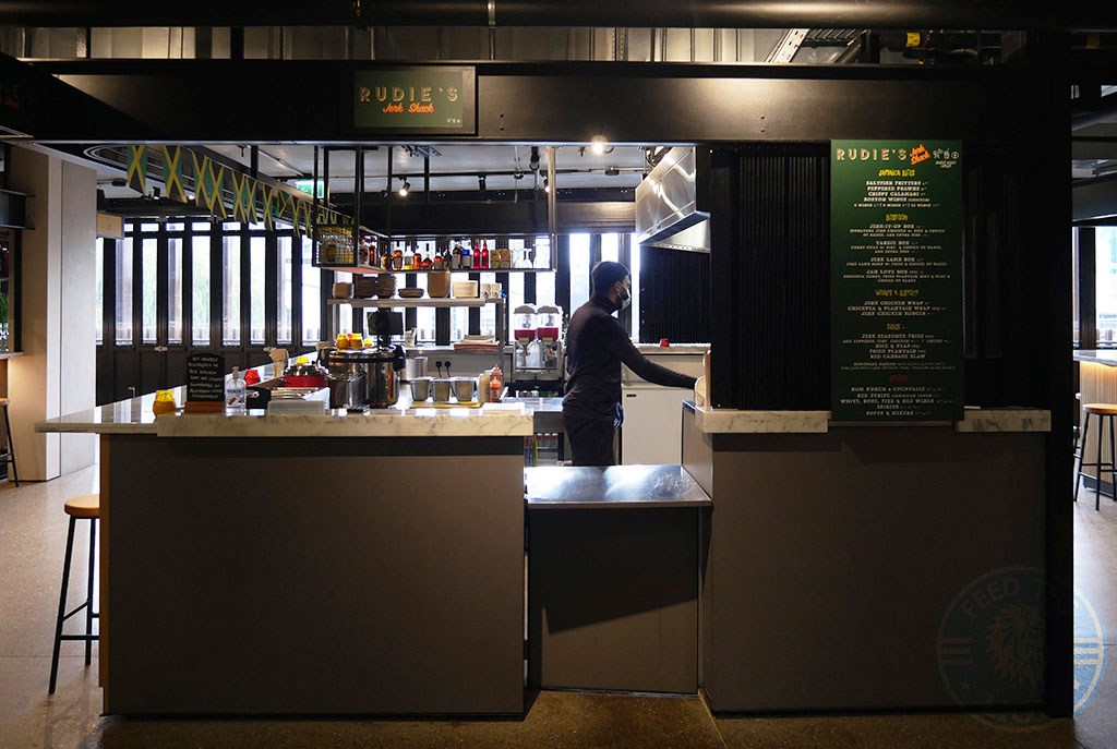 Hawley Wharf Camden Lock Rudie's Jerk Shack Halal Restaurant Takeaway London
