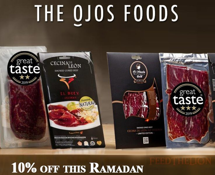 Halal delivery beef 10% off multi-award winning The Ojos Foods