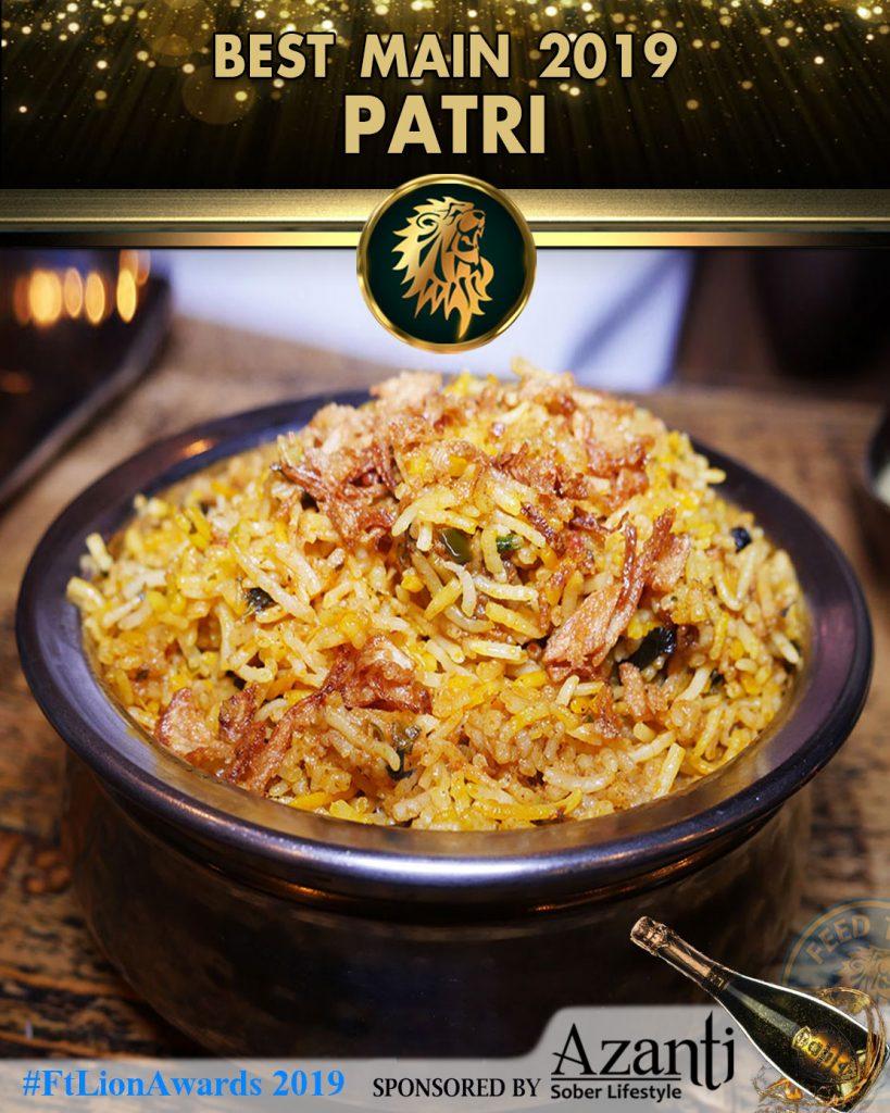 Biryani Rice Restaurant Awards London Indian Patri