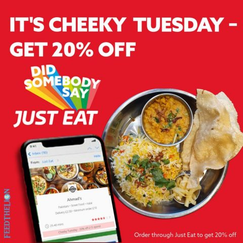 Ahmad's cafe plashet road Halal restaurant Cheeky Tuesdays get 20% off JustEat London UK