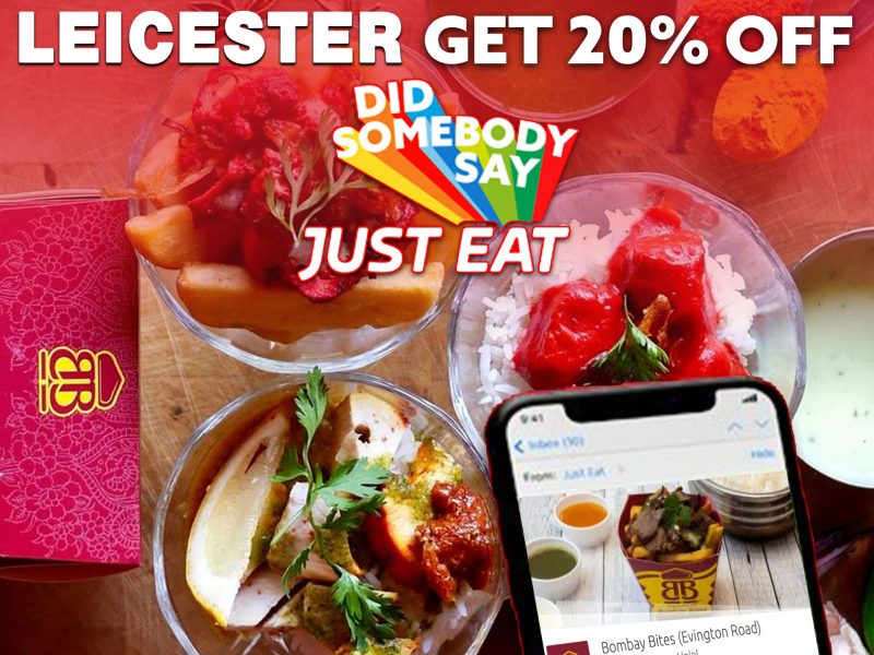 Bombay Bites Braunstone Gate 20% off Just Eat 'Cheeky Tuesdays' Leicester