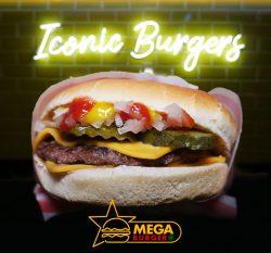 McD inspired HMC Mega Burger Whitechapel launch today