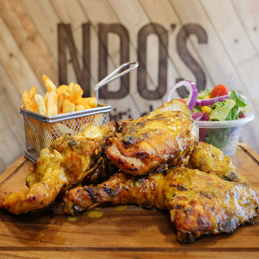 London's Halal piri piri chicken NDO's in Ilford nandos