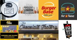 BRGR LDN Chocolate Factory restaurants Halal London Slough
