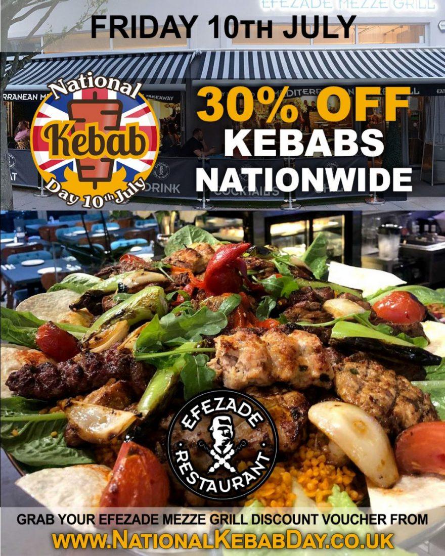 National Kebab Day Halal Restaurant Efezade Mezze Grill Feed The Lion