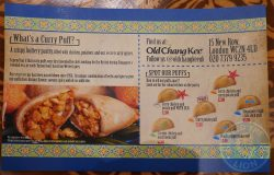 menu Old Chang Kee Singapore Curry Puff Halal London
