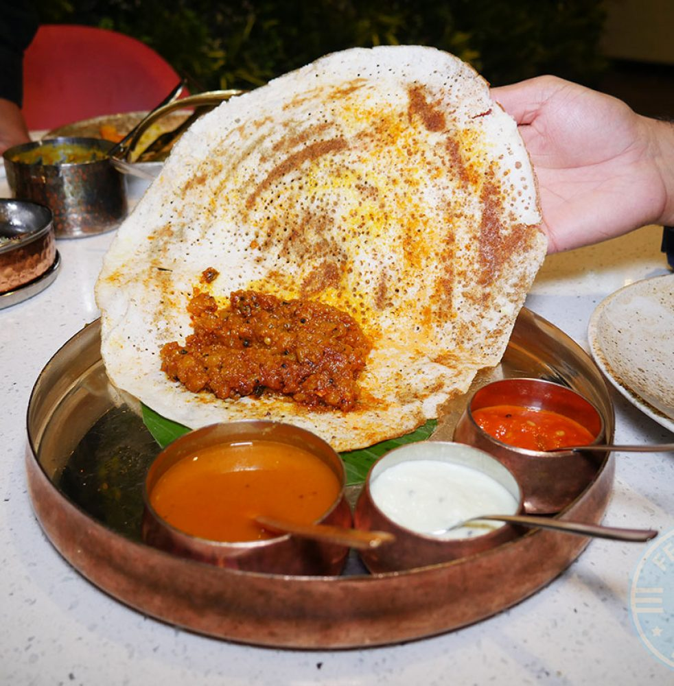 </strong>Classic Masala Dosa</strong> – mustard tempered crushed potato, £9.00