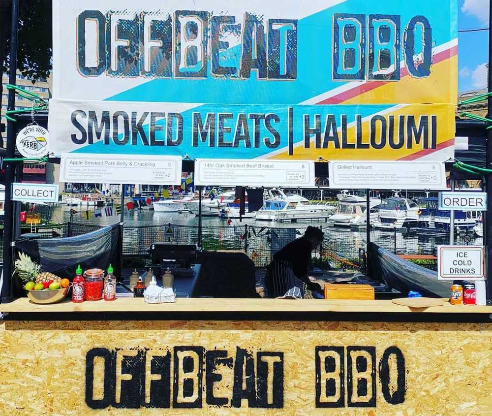 Off-beat BBQ Kerb West India Quay Street Food London