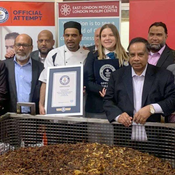 Chef Oli Khan Guinness World Record Onion Bhaji East London Mosque