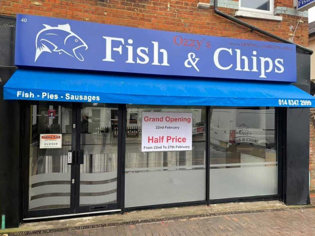 Ozzy's Fish & Chips Halal Knaphill Woking