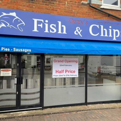 Ozzys Fish & Chips Halal Knaphill Woking
