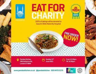Panda's Kitchen Islamic Relief Halal Restaurant Gaza Strip Donation