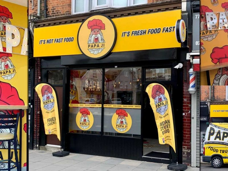 Papa Ji Halal Indian Food Truck Winchmore Hill London