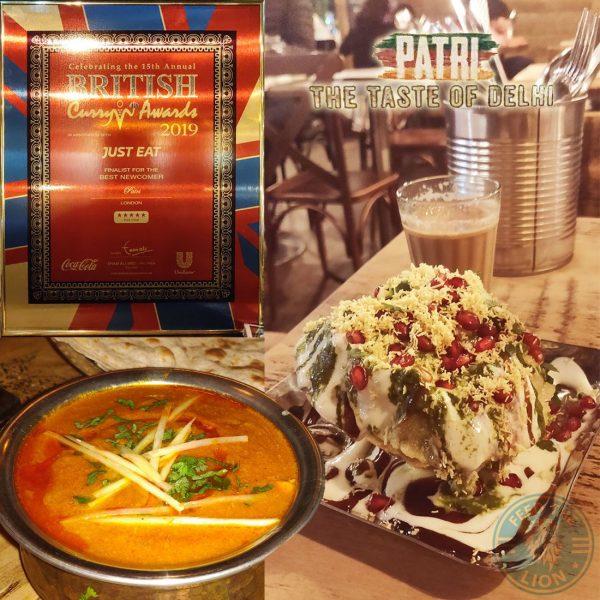 Hammersmith Northfields Award Winning Patri restaurant Delhi Menu Halal