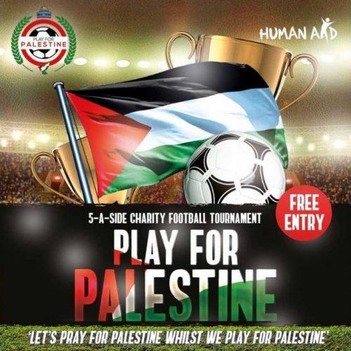 Play for Palestine Halal Food Human Aid Charity