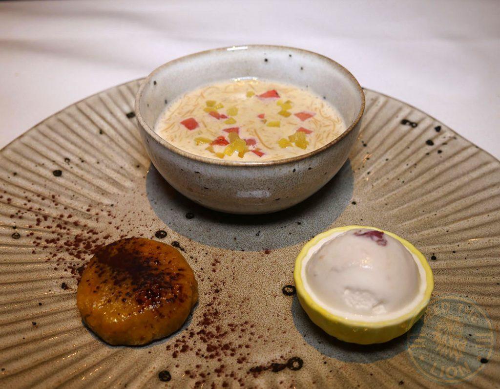 Dessert Quilon Restaurant Indian Fine Dining Michelin Star Curry Westminster London Buckingham Palace