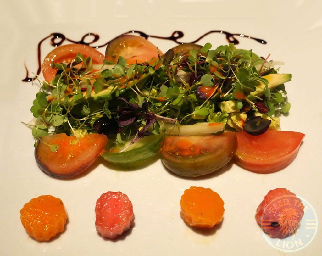 Salad Quilon Restaurant Indian Fine Dining Michelin Star Curry Westminster London Buckingham Palace