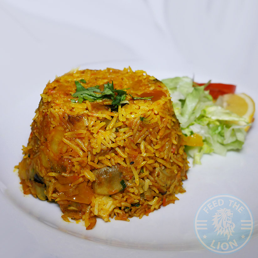 Raja Restaurant Indian Cambridge Halal Vegetable biryani £9.90