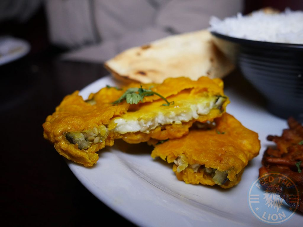 Raja Restaurant Indian Cambridge Halal aubergine pakora