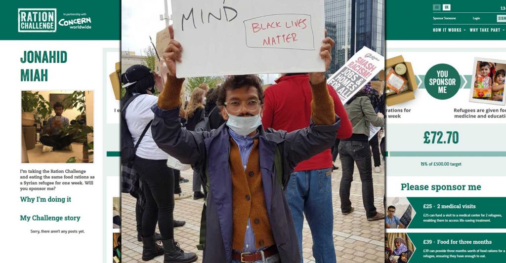 Ration Challenge Concern Worldwide Jonahid Miah