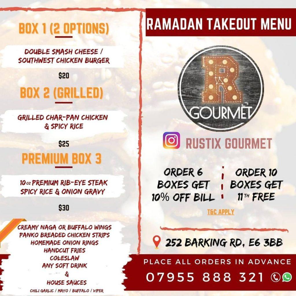 Rustix Gourmet Burgers London Restaurant Halal