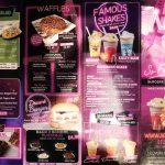 menu So Famous American Diner Halal Burger dessert restaurant Sheffield