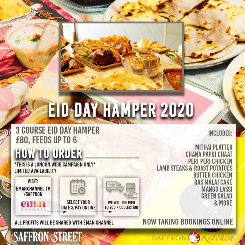 Saffron Street London Restaurant Eid