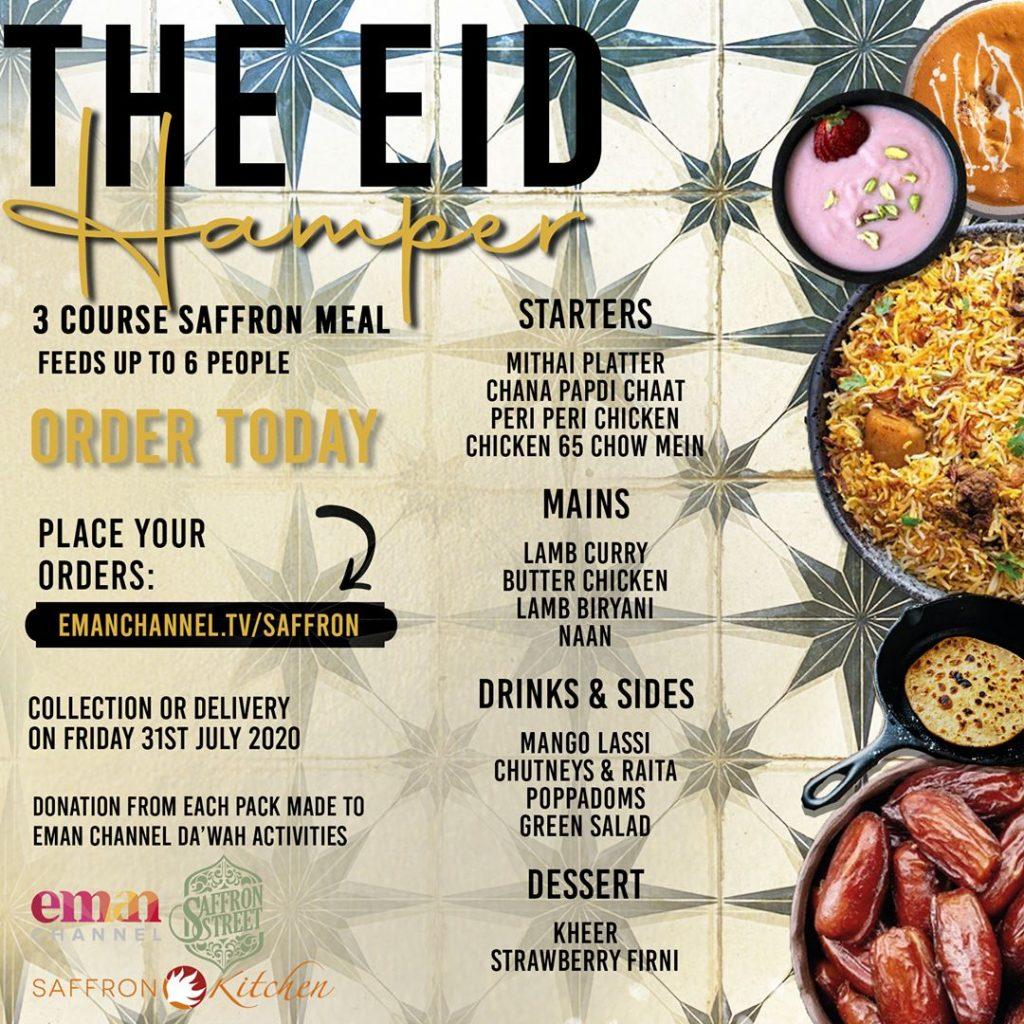 Saffron Street Indian Restaurant Eid