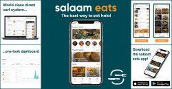 Salaam Eats Halal Restaurant Takeaways App Website Ordering System